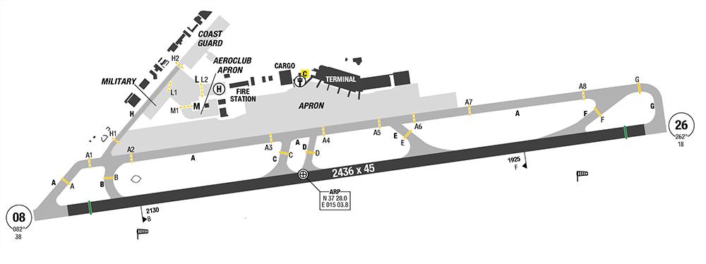 Catania Fontanarossa Map