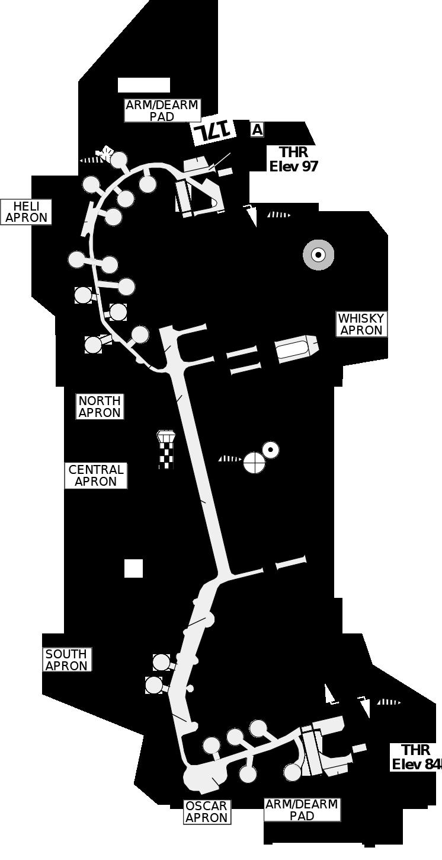 Decimomannu AB Mil Map