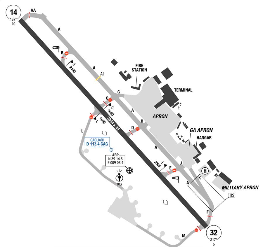 Cagliari Elmas Map
