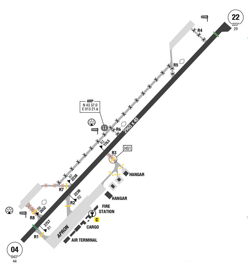 Ancona Falconara Map