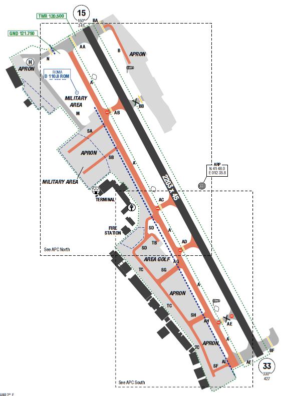 Roma Ciampino Map