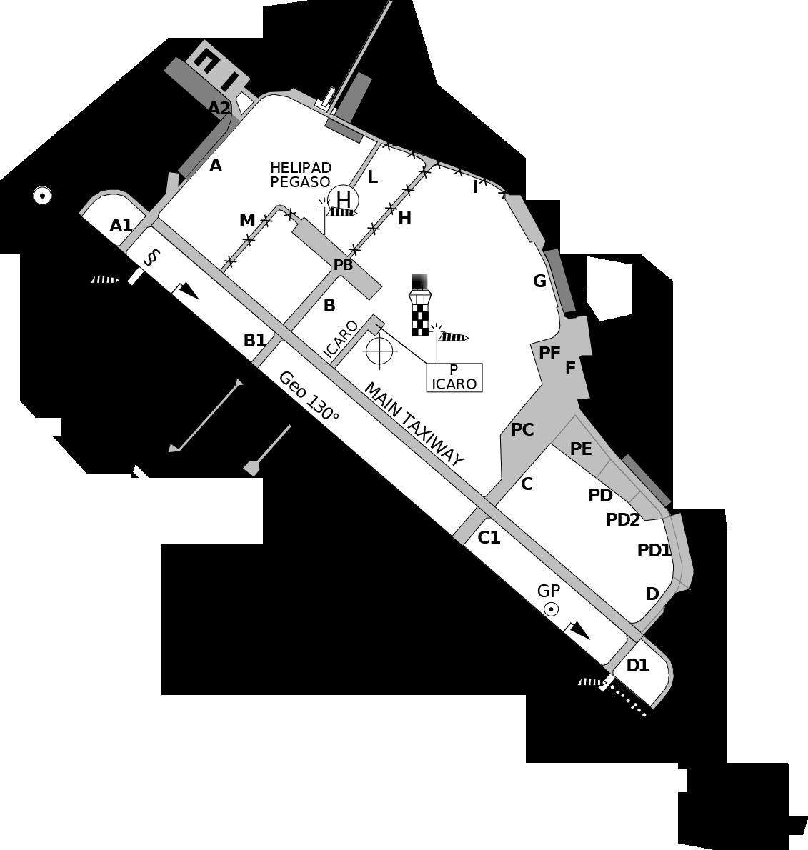 Pratica di Mare AB Mil Map