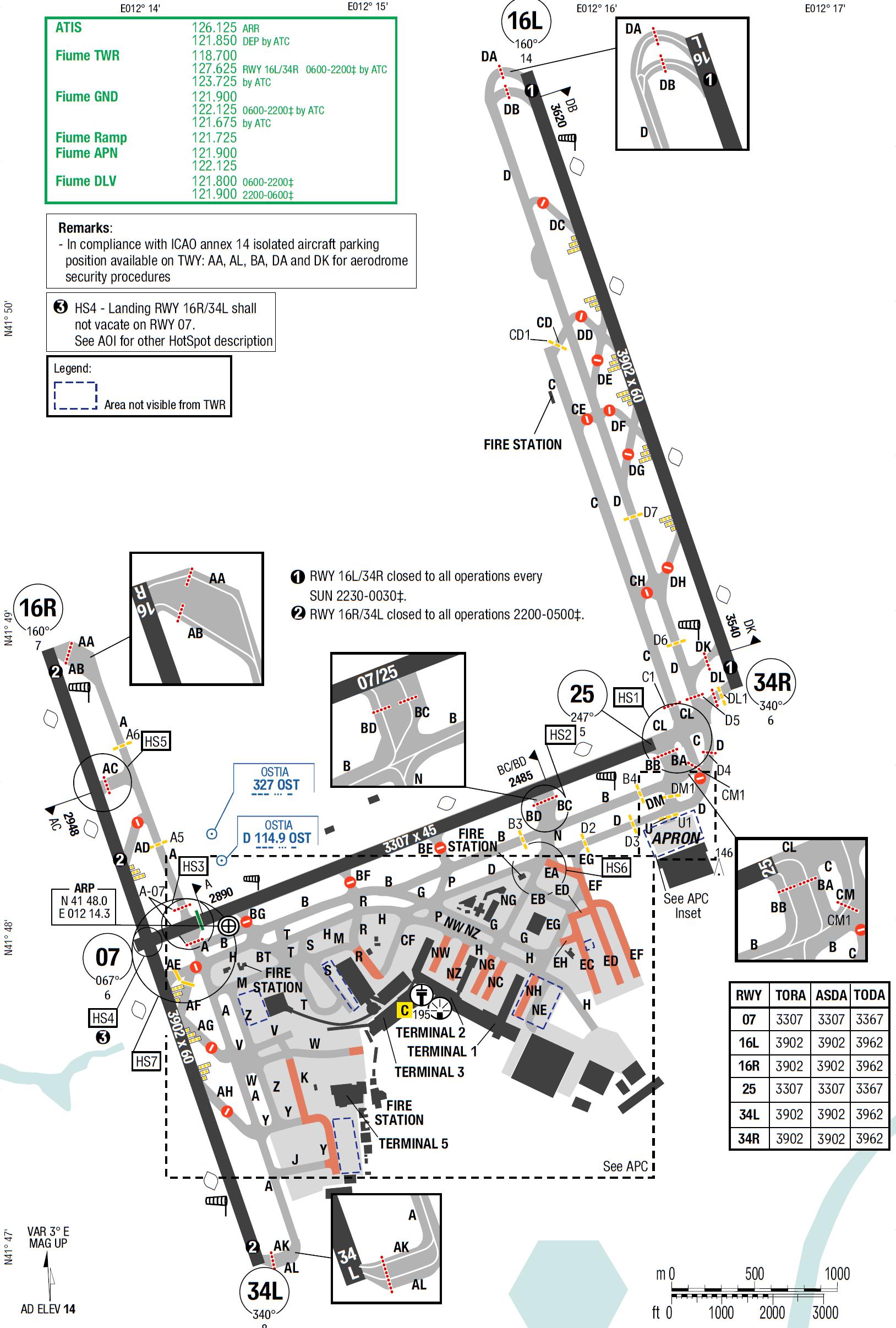 Roma Fiumicino Map